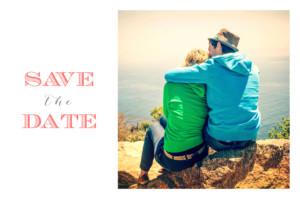 Save the Date Le plus beau jour corail