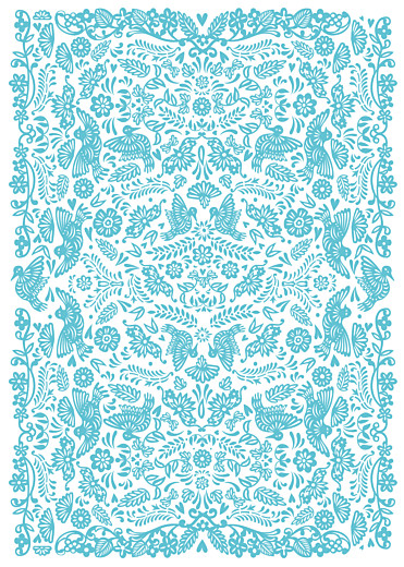 Livret de messe mariage Papel picado turquoise - Page 2