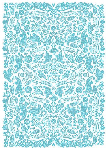 Livret de messe mariage Papel picado turquoise - Page 3