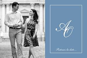 Save the Date Chic liseré bleu