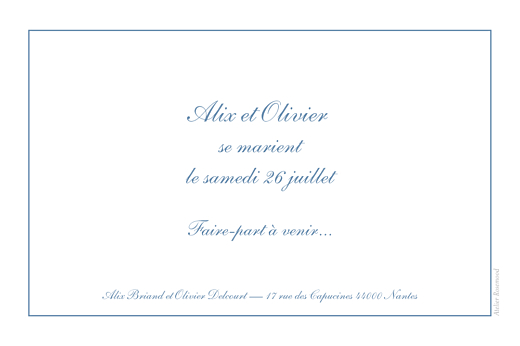 Save the Date Chic liseré bleu - Page 2