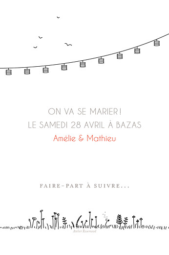 Save the Date Promesse champêtre blanc - Page 2