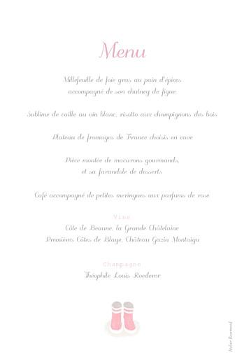 Menu de baptême Balade rose - Page 2