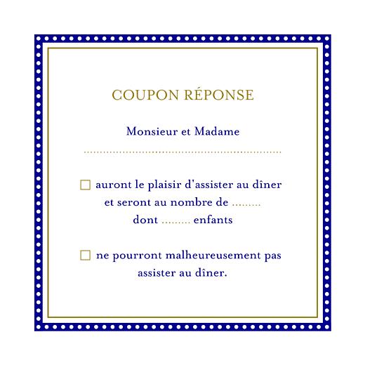 Carton réponse mariage Byzance bleu