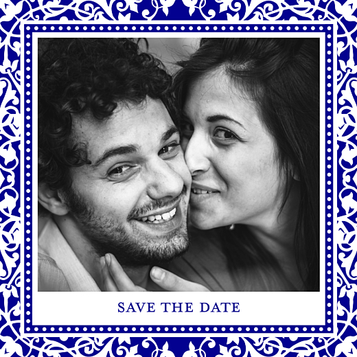 Save the Date Byzance photo bleu - Page 1