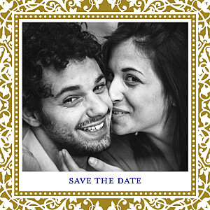 Save the Date Byzance photo doré