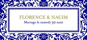 Etiquette de mariage Byzance bleu