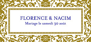 Etiquette de mariage Byzance doré