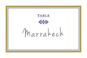 Marque-table mariage Byzance doré