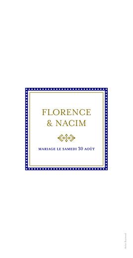 Menu de mariage Byzance bleu - Page 2
