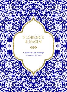 Livret de messe mariage Byzance bleu