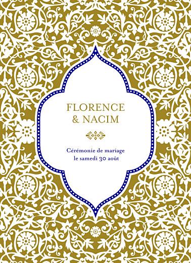 Livret de messe mariage Byzance doré