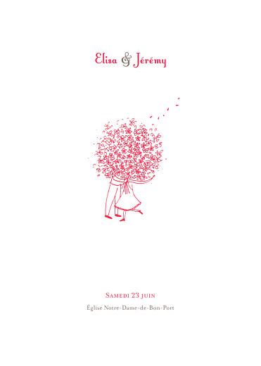 Livret de messe mariage Bouquet rouge