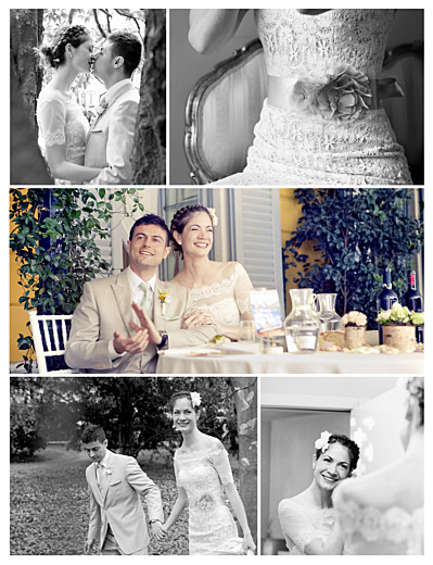 Carte de remerciement mariage Grand souvenir 5 photos blanc