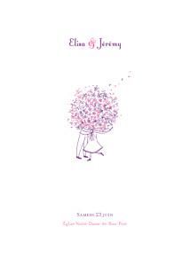 Livret de messe mariage violet bouquet lilas