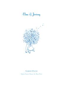 Livret de messe mariage Bouquet bleu