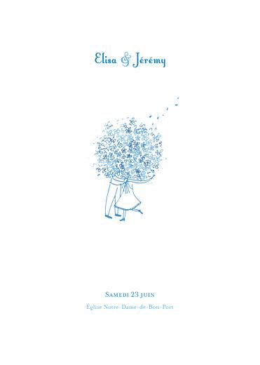 livret de messe mariage bouquet bleu - Exemple Remerciement Livret De Messe Mariage