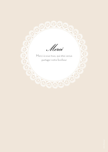 Livret de messe mariage Boudoir dentelle beige blanc - Page 4
