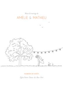 Sehr Livret de messe mariage Bouquet - Atelier Rosemood CL68