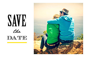 Save the Date Un grand oui ! jaune