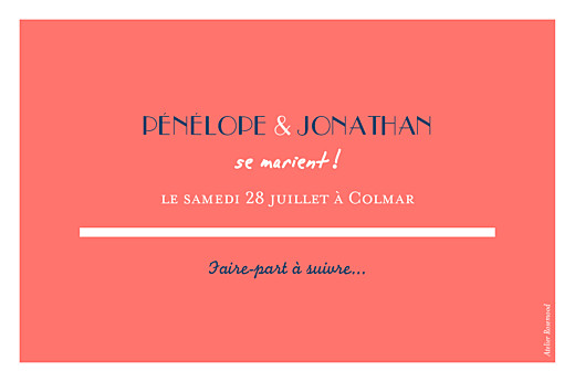 Save the Date Un grand oui ! corail - Page 2