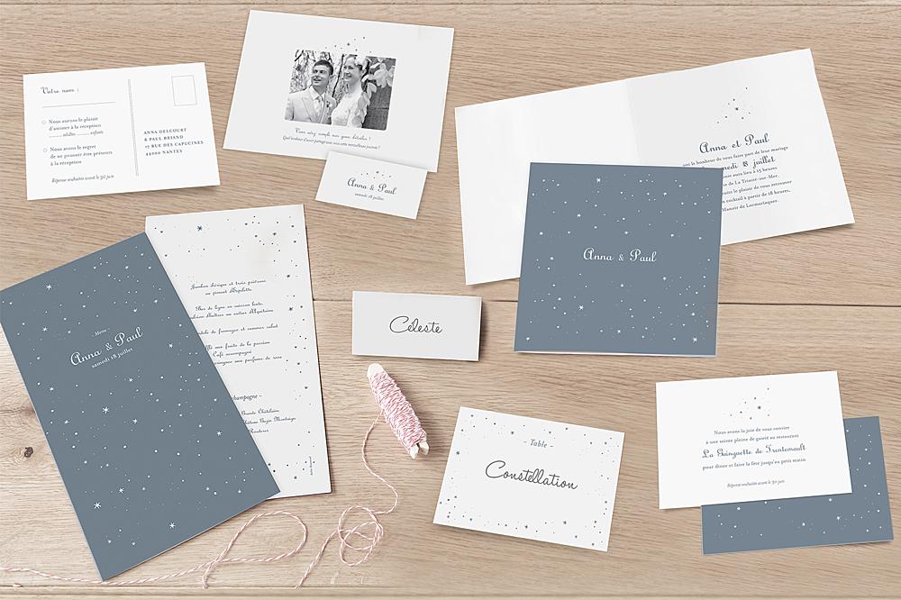 livret de messe mariage toile gris bleu - Exemple Remerciement Livret De Messe Mariage