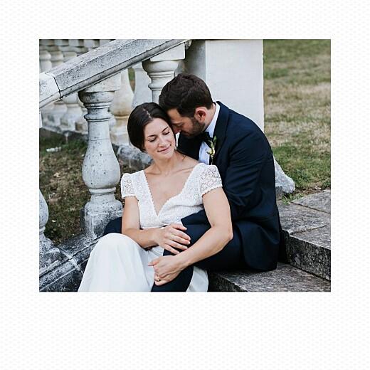 Carte de remerciement mariage Petit polaroid (3 photos) blanc - Page 2