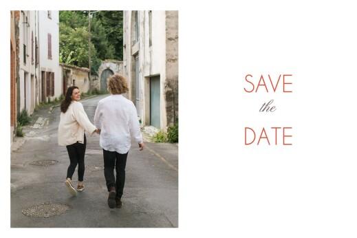 Save the Date Réjouissance blanc