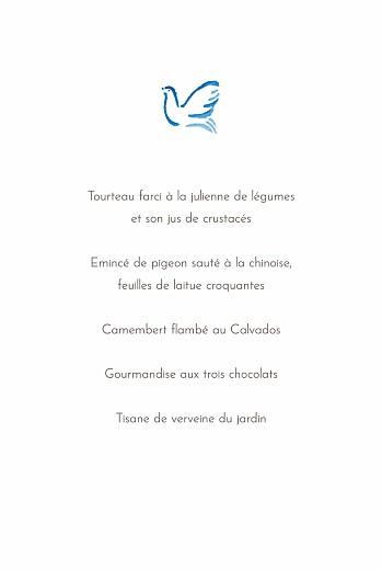 Menu de baptême Colombes bleu - Page 3