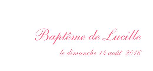 Etiquette de baptême Poisson rose