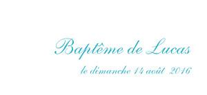 Etiquette de baptême Poisson bleu