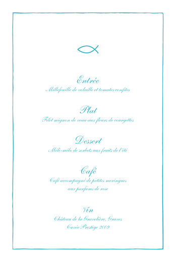 Menu de baptême Poisson bleu - Page 3