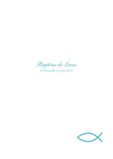 Livret de messe Poisson bleu