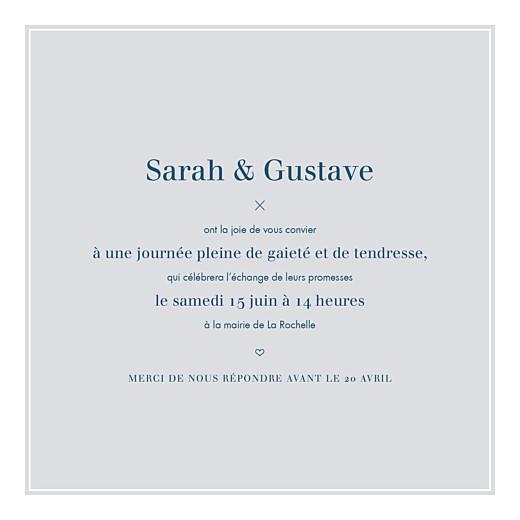Faire-part de mariage Croisette gris - Page 3
