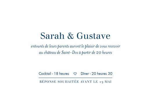 Carton d'invitation mariage Croisette gris