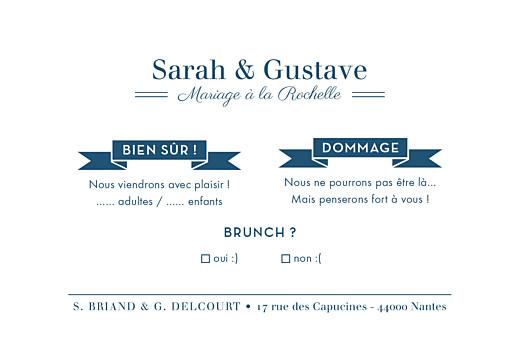 Carton réponse mariage Croisette gris - Page 2