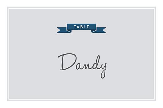 Marque-table mariage Croisette gris
