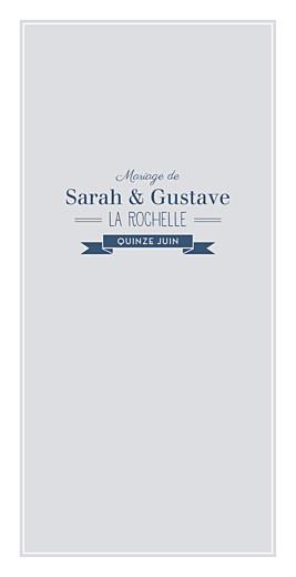 Menu de mariage Croisette gris