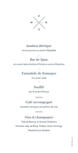 Menu de mariage Croisette gris - Page 2