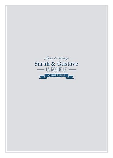 Livret de messe mariage Croisette gris