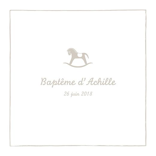 Faire-part de baptême Petit cheval beige