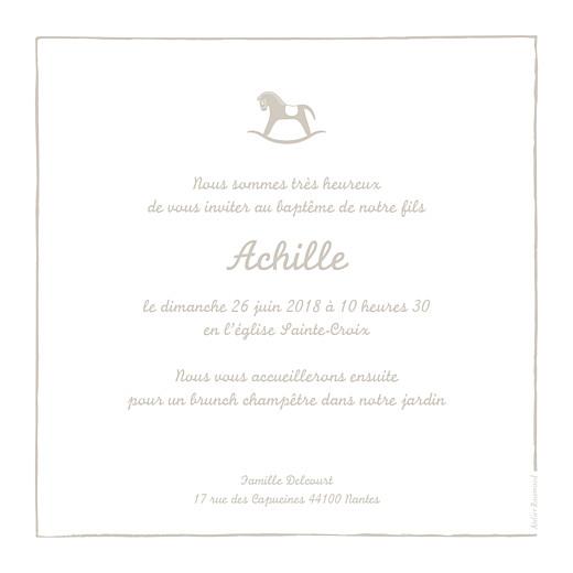 Faire-part de baptême Petit cheval beige - Page 2