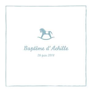 Faire-part de baptême Petit cheval bleu
