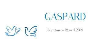 Etiquette de baptême Colombes bleu