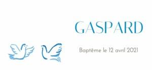 Etiquette perforée baptême Colombes bleu