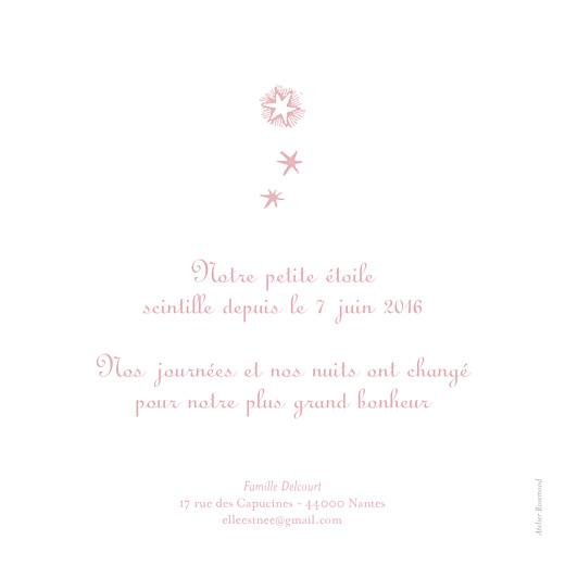 Faire-part de naissance Constellation rose