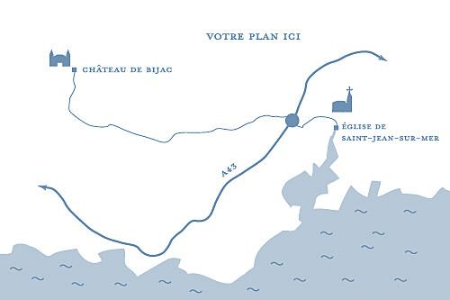 Carton d'invitation mariage Grand chic liseré bleu - Page 2