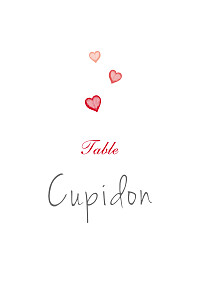 Marque-table mariage Coeurs rouge