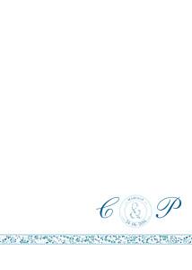Livret de messe mariage Ruban liberty bleu