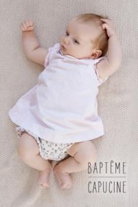 Menu de baptême L'essentiel blanc